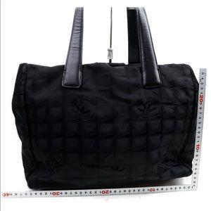 Chanel Black Nylon Travel Ligne Tote Bag